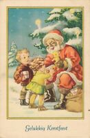Christmas Greetings - Santa Claus With Smiles Giving Toys - 04.08