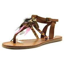 Flat (0 to 1/2 in.) T-Strap Synthetic Sandals & Flip Flops for Women