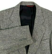 Jos A Bank Cashmere Sport Coat Size 41 Regular Kent Style Black Gray Herringbone
