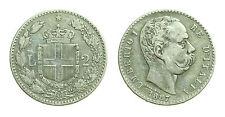 pcc1378_6) Regno Umberto I (1878-1900) Lire 2 Stemma  1887