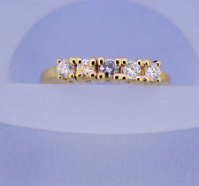 1/3 ct DIAMOND BAND RING REAL SOLID 14 K GOLD 2.9 g SIZE 6.25