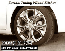 "Carbon Tuning Wheel Mask Sticker For Hyundai i30 Elantra Touring 17"" (2013~on)"