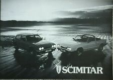 Reliant Scimitar GTE & GTC fold out Sales Brochure & Price List October 1982 #2