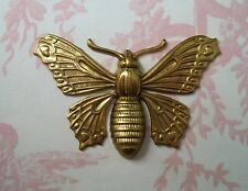 Large Raw Brass Butterfly Stamping (1) - FFA9074 Jewelry Finding