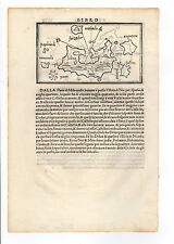 GREECE BORDONE 1547 MAP OF SIFNOS MILOS 2 MAPS IN ONE SHEET