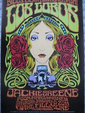 JACKIE GREENE LOS LOBOS FILLMORE POSTER Original Bill Graham Birthday Al  Forbes
