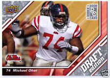 2009 Michael Oher rookie football trading card MOVIE BLIND SIDE BLINDSIDE