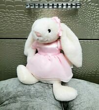 Jellycat London Bella Ballerina Bunny Rabbit Baby Plush Pink Dress Bow White 10""