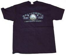Men's California CA The Golden State Cotton T-Shirt - Navy