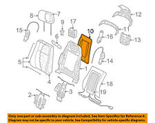 AUDI OEM 04-10 A8 Quattro Front Seat-Seat Back Panel Trim 4E0881969AFD89