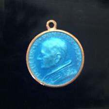 Vintage Medallion/Pendant/Charm-Pope Paul VI on front, St. Christopher reverse