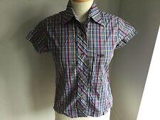 Henri Lloyd Ladies Short Sleeve Check Shirt Size 2 / 8-10. Great Condition.