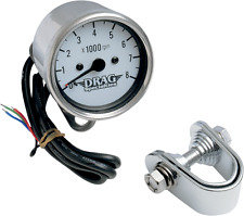 "Drag Specialties 8000 rpm Chrome Electronic Tachometer 2.4"" Harley Davidson"