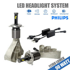 H4 9003 HB2 90W 11700LM Genuine PHILIPS LED Car Headlight Kit High/Low Beam Lamp