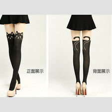 POP Sale Lovely Sexy Women Cat Tail Gipsy Mock Knee High Socks Hosiery Tattoo