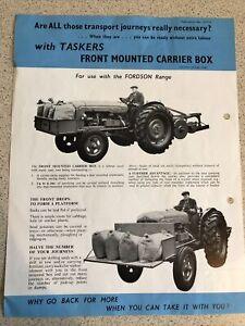 Fordson Major Tractor Front Mounted Carrier Transport Box Leaflet RARE Agri/Ind
