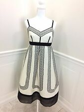NWT  REDUX Charles Chang-Lima Black and White Dress Silk Blend size 42 or US 8