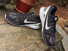 $125 Nike Lunarglide 7 Black / White 747355-001 Lace Up Running Shoes Men 12