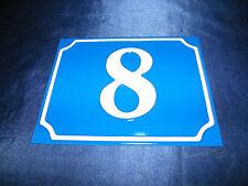 BLECHSCHILD Nr. 8 15x12cm HAUS SCHILD HAUSNUMMER PARZELLE SCHREBERGARTEN