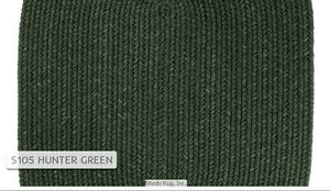 Solid Hunter Green 100% Wool New England Country Home Classic Braided Rug