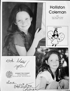 Holliston Coleman - Actress 'Medium', 'Bless the Child' - Autographed Photo