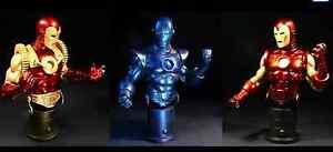 IRON MAN (GROUP 1) 3 PAK MINI-BUST BY BOWEN DESIGNS - FACTORY SEALED, NIB / MIB