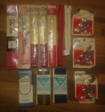 vintage sewing lot buttons zippers lily prims talon j.& p. coats binding