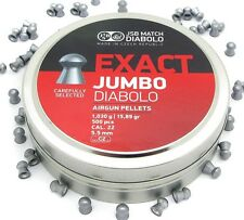 JSB exact jumbo pellets .22 air rifle target shooting calibre 5.52