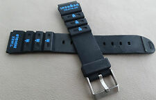 New Mens Timex Ironman Triathlon Indiglo 18mm Blue Logo Rubber Sport Watch Band