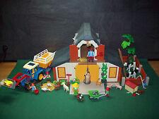 Playmobil Nostalgie-Bauernhof 3072-A/1999 II/blauer Traktor, ausgedr. BA, o.OVP!