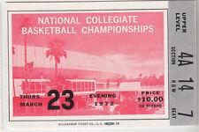 1972 NCAA FINAL FOUR TICKET UCLA BRUINS FLORIDA STATE LOUISVILLE NORTH CAROLINA