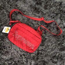 Supreme red shoulder bag fw18 box logo cordura