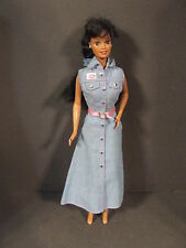VTG 1966 MATTEL ETHNIC DARK HAIR LIGHT BROWN EYE BARBIE DOLL MARKED INDONESIA