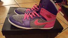 Worn x1 Jordan Skinny High Pink And Purple Shoes Size 5