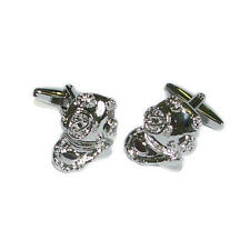 Silver Deep Sea Diver Cufflinks With Gift Pouch Diving Ocean Underwater Present