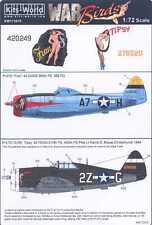 Kits World Decals 1/72 REPUBLIC P-47D THUNDERBOLT Fran & Tipsy