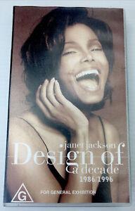 Janet Jackson Design of a decade 1986/1996 VHS Video Cassette Tape PAL G 1995.