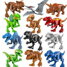 12 Pcs Dinos Jurassic World Fit Lego Dinosaur Tyrannosaurus Trex Park Raptor