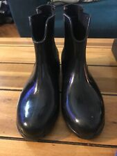 Womens Tommy Hilfiger Ankle Rain Boots Blk Size 7.5