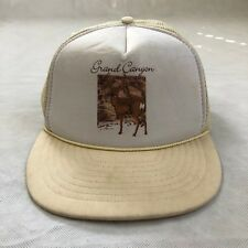Vtg 80's Grand Canyon Off White Snapback Hat Cap Deer Hunting Rare