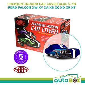 SAAS BLUE XL SHOW CAR COVER INDOOR DUST FORD FALCON XW XY XA XB XC XD XR XT 5.7m