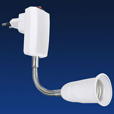 EU Plug E27 Light Bulb Lamp Holder Flexible Adapter Converter Socket Home Tool