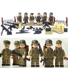 German Waffen WW2 SS Army Minifigure figure toy soldier Nazi set of 6
