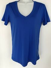Under Armour Women's Royal Blue Spandex Blend Fitted Athletic Stretch Knit Top L