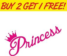 Princess novelty girly car Window Graphic Decal Sticker VW Euro JDM VAG funny
