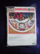 Dimensions - Christmas Ingredients Tree Skirt #8646 Counted Cross Stitch Kit 45""