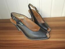 Chaussures talon escarpins noir ouvert TED LAPIDUS 36 4UK 6US Semelle caoutchouc