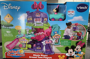 Disney vtech Go! Go! Smart Wheels Minnie Mouse Around Town Playset