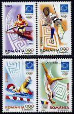 2004 Athens Olympics,Greece,Fencing,Rowing,Swimming,Gymnastics,Romania,5853,MNH