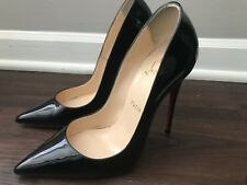 CHRISTIAN LOUBOUTIN 'So Kate' Pointy Toe Pump Black Heels Size 38 MSRP $725